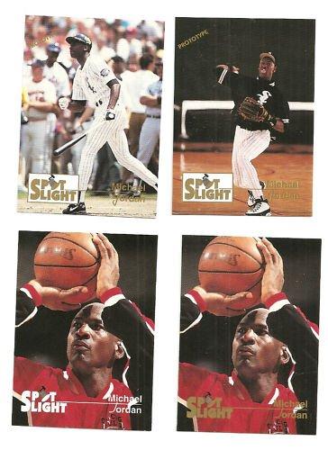 Michael Jordan All 4 Spotlight Cards Rare White LOT
