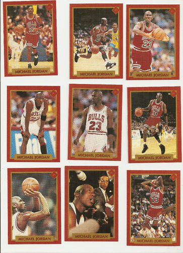 Michael Jordan Magic Johnson 36 Card Set Finals 1991