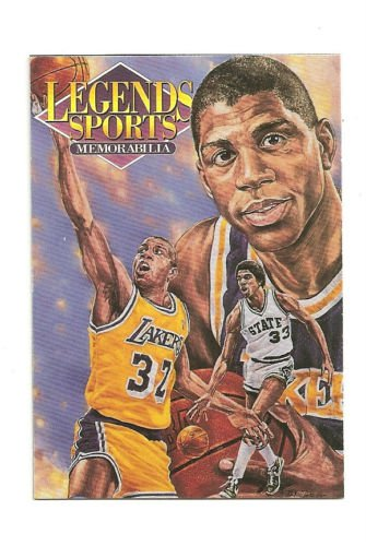 Magic Johnson Hand Bonded Trade Card 1/1 plain black back From Postcard Artwork