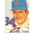 Nolan Ryan Hand Bonded Trade Card 1/1 plain black back From Magazine Artwork
