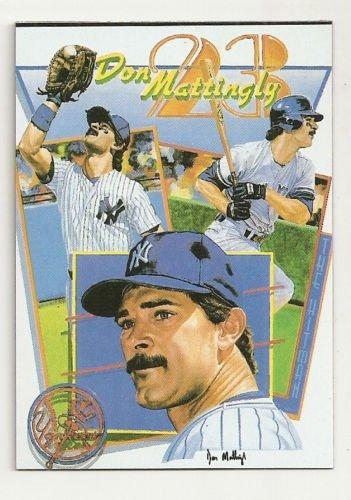 Don Mattingly Homemade NY Yankee  Artwork Card Plain Black Back Unique only 1/2
