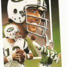 Joe Nameth Hand Bonded Card Unique Oddball Football NY Jets 3 Scenes Artwork '91