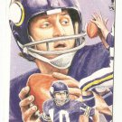 Fran Tarkenton Hand Bonded Card Unique Oddball Football Vikings  Artwork '91