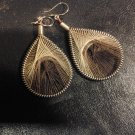 Small Brand New Brown Dangled Thread Earrings