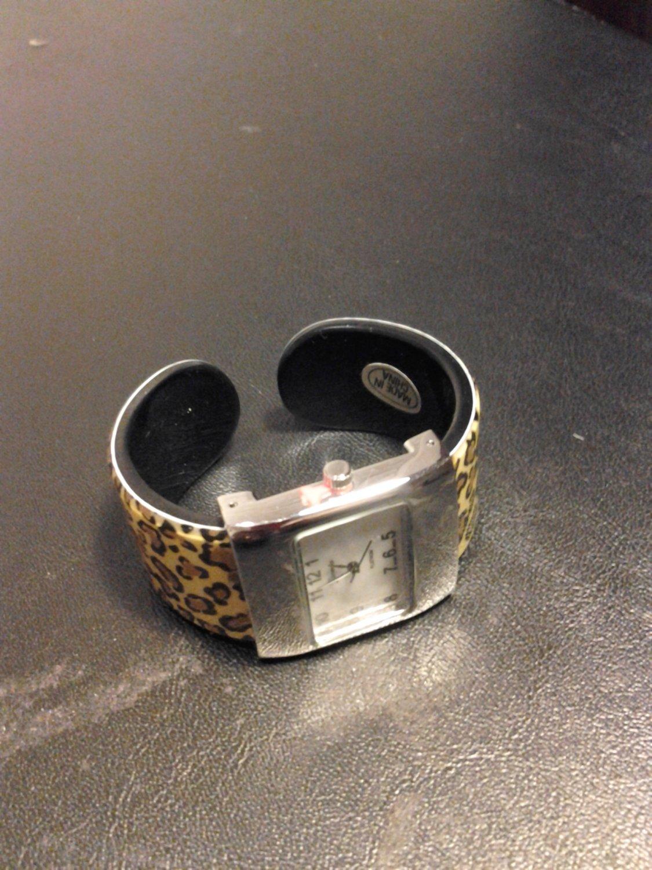 Brand New Cuff Leopard Print Watch