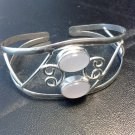 Brand New Beautiful Silver Cuff Bracelet With Pink Stones