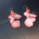 Brand New Beautiful Painted Skin Fish Orange-Red Dangled Earrings