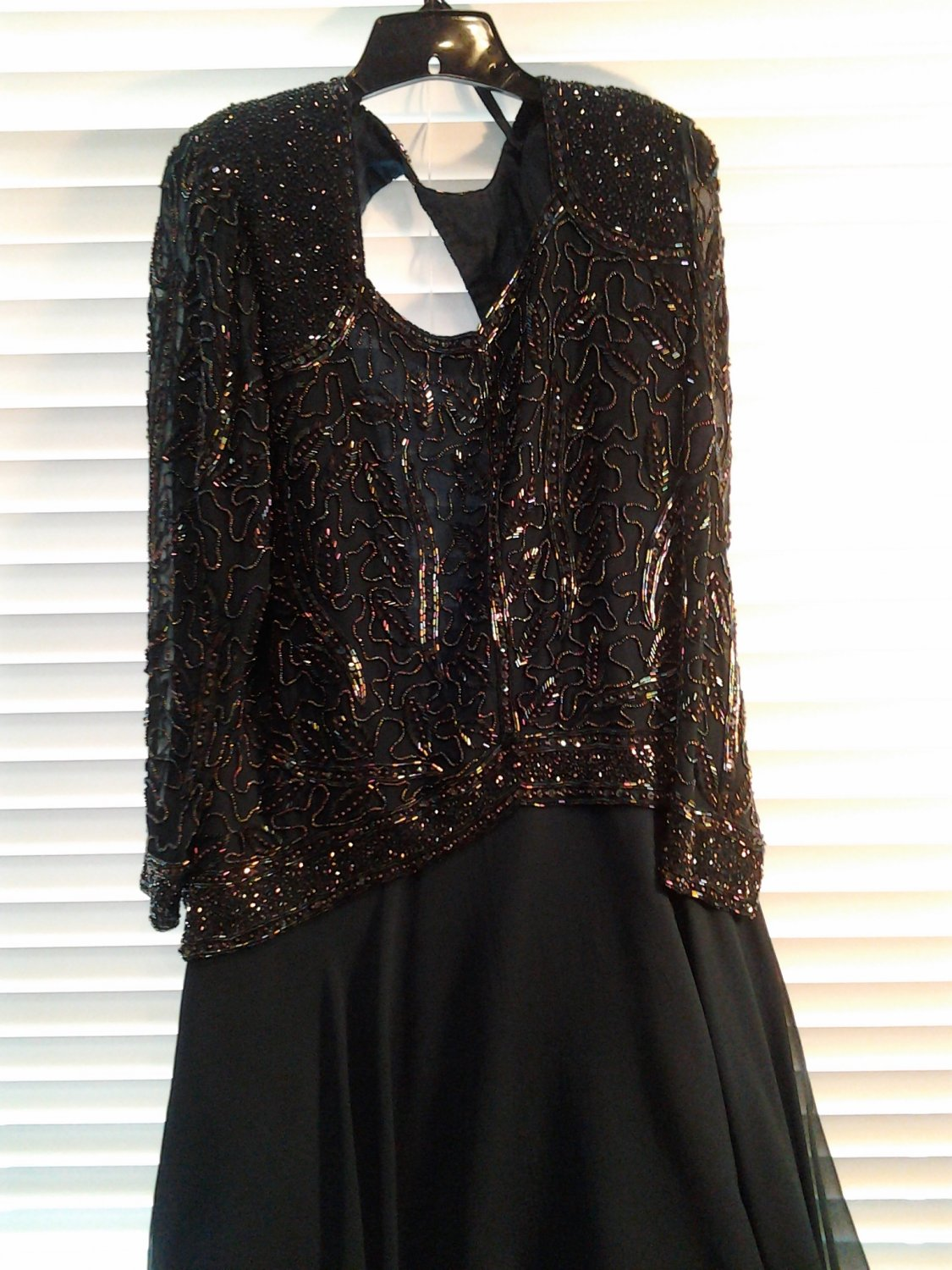 Beautiful Forest Green Beaded Sequind Evening Banquet Gown