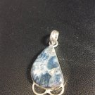 Brand New Beautiful Blue Stoned Silver Pendant