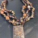 Beautiful Brown Bold Beaded Vintage Necklace