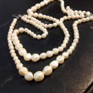 Large Ivory Pearl  W/Clasp Necklace
