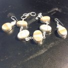 Brand New Beautiful Tan Bracelet And Silver Dangled Earring Set