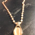 Brand New Beautiful Bold Peach Beaded Necklace