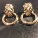 Beautiful  Bold BIg Gold DoorKnockers Clip On Earrings