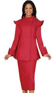 Brand New Beautiful Red Devine Denim Women's 2- Piece Suit