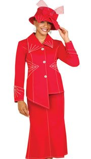 Brand New Beautiful Women's Size M Red Denim Sequined Suit