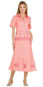 Brand New Linen Peach 2-Piece Casual Dress Wear