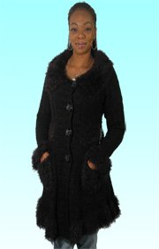 Brand New Sioni By Milano Fall All Black Knit Cardigan Sweater   Bust 37.5