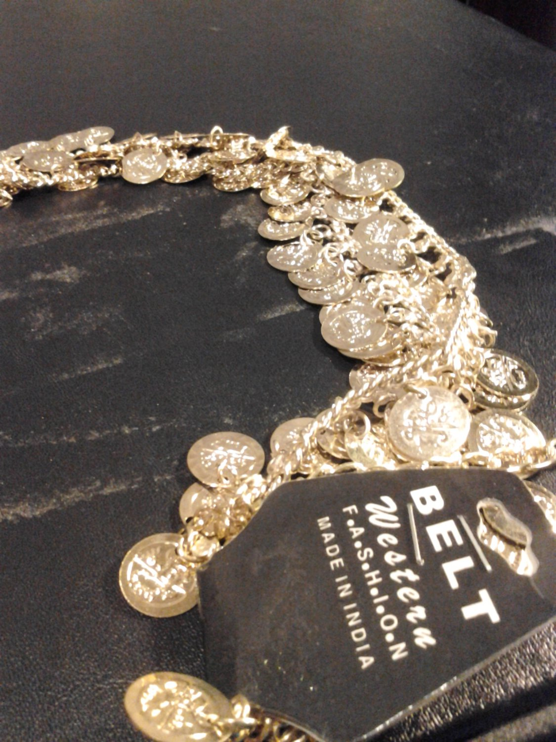 Brand New Beautiful Gold Hip Coin Chain Belt By Western