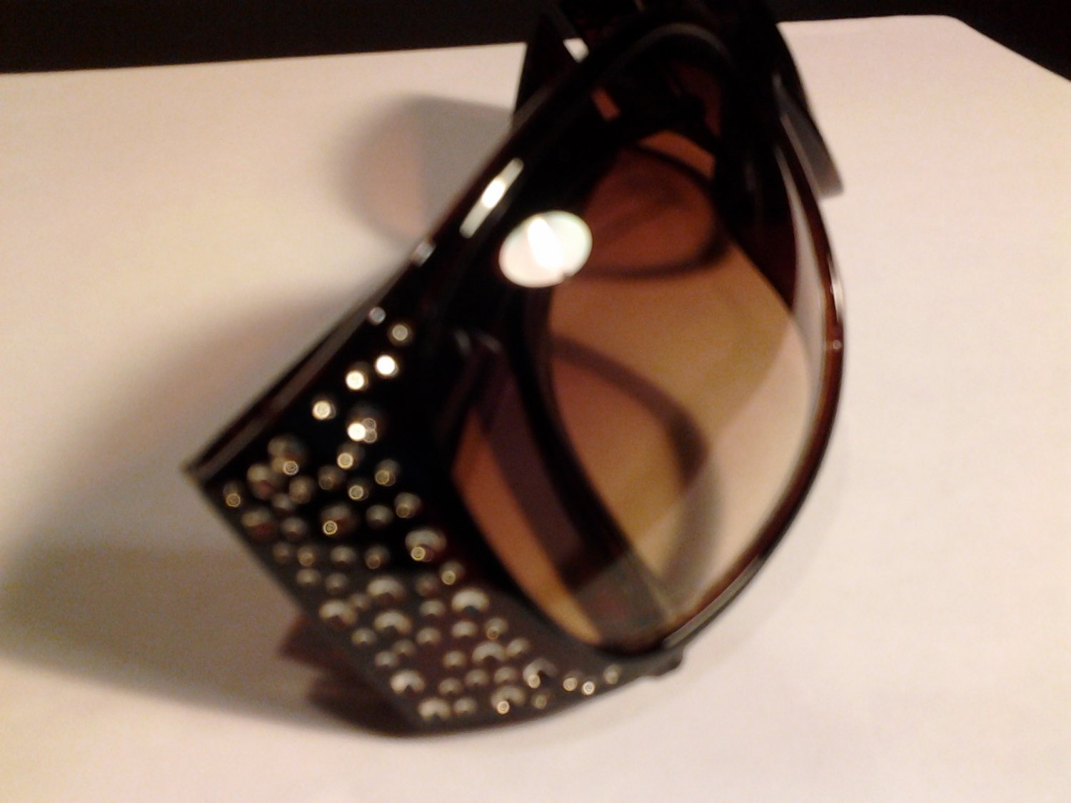 Brand New Designer Brown  UV Sunglasses With Bling