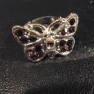Brand New Beautiful Purple Butterfly Ajustable Rings