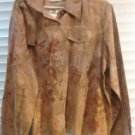 Brand New Women's Peach And EarthTone Stylish Embellished Jacket SZ 2X