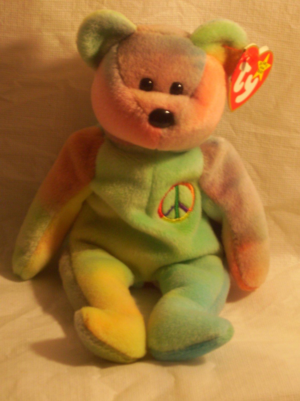 Peace Bear**RETIRED**Ty beanie baby