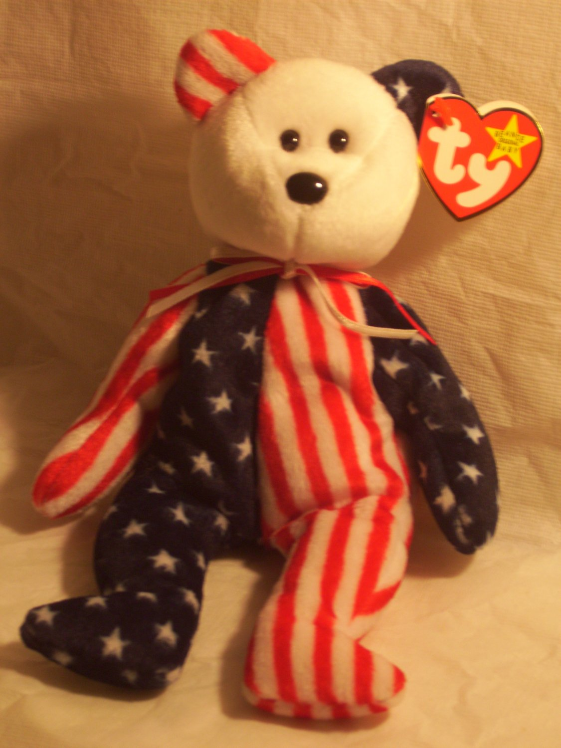 "Spangle ""the american bear""**RETIRED**Ty beanie baby"