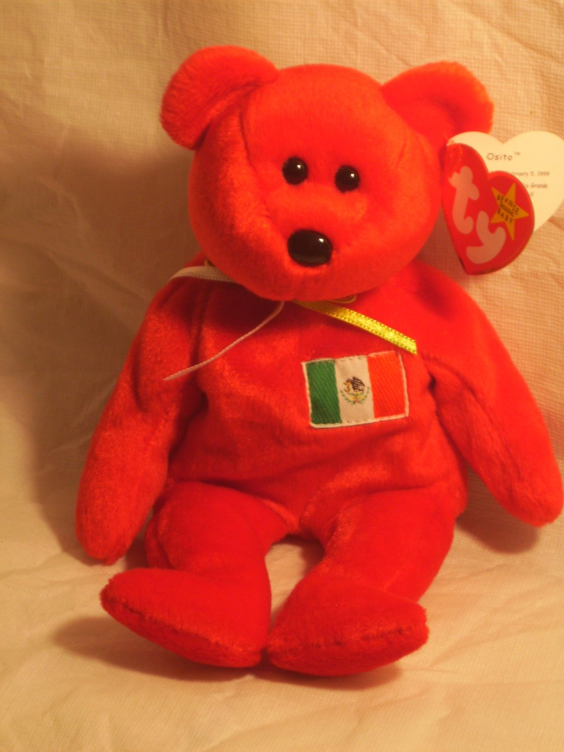 "Osito ""the Mexican bear""**RETIRED**Ty beanie baby"