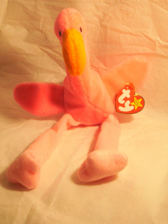 "Pinky ""the flamingo""**RETIRED**Ty beanie baby"