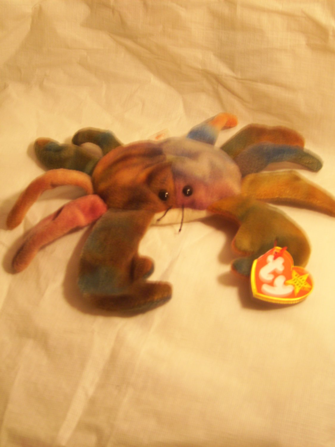 """CLAUDE """"the crab""""**RETIRED**Ty beanie baby"""