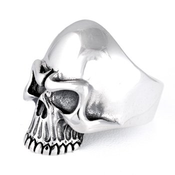 Classic Biker Skull Ring available US size: 7-15
