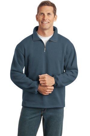 1/4 zip sweatshirt-steel blue