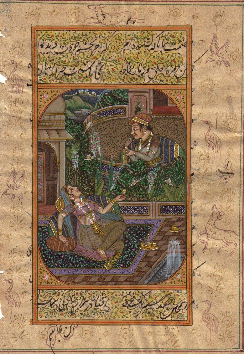 Mughal Miniature Painting Handmade Art