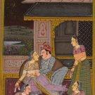 Moghul Mughal Miniature HANDMADE Erotic Harem Painting Islamic Script Art