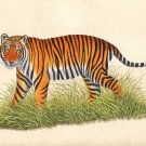 Indian Miniature Painting Royal Bengal TIGER HANDMADE Wild Fierce Animal Art