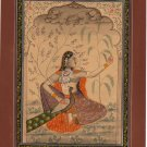Rajasthan Miniature Painting of Music Ragamala Indian Rajput Vasanta Madhvi Art