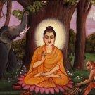Buddha Art Handmade Oil on Canvas Siddharth Gautam Buddhist Buddhism Painting