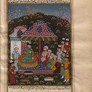 Persian Illuminated Islamic Manuscript Art Rare Miniature Handmade Folk Painting
