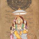 Narasimha Hindu Deity Artwork Vishnu Avatar Indian Religion Spiritual Painting