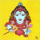 Kerala Mural Krishna Painting Handmade South India Religion Ethnic Miniature Art