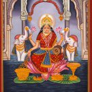 Kerala Mural Sri Rajarajeshwari Painting Handmade South Indian Hindu Goddess Art