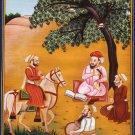 Sikh Guru Har Rai Painting Handmade Sikhism Seventh Guru Religious Indian Art