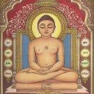 Tirthankara Mahaveera Jain Painting Handmade Jainism Religious Canvas Oil Art