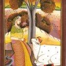Ragini Ragamala Handmade Painting Rajasthani Indian Ethnic Folk Miniature Art