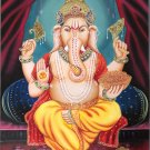 Ganesh Hindu Art Handmade Ganpati Ganesha Indian Religious Canvas Oil Painting