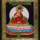 Tanjore Buddha Painting Handmade South Indian Religious Thanjavur Relief Art