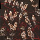 Indian Batik Bird Flower Painting Handmade Tribal Nature Cotton Folk Ethnic Art