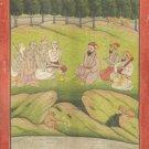 Guru Nanak 18th Century Replica Sikh Art Rare Antique Finish Sikhism Painting