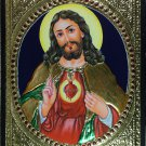 Tanjore Jesus Christ Painting Handmade South India Religion Thanjavur Relief Art